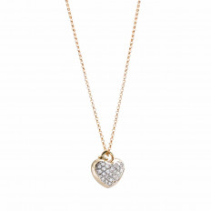 Vintage 0.75 CTW Diamond Heart Necklace