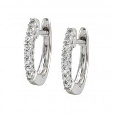 New 0.15 CTW Diamond Hoop Earrings