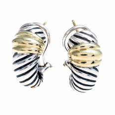 Vintage David Yurman Thoroughbred Shrimp Earrings