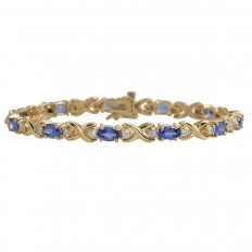 Vintage 3.30 CTW Diamond & Tanzanite Bracelet