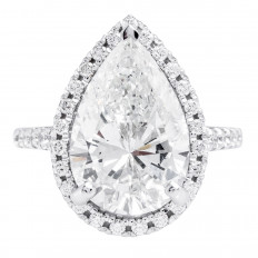 New 7.41 CTW Diamond Halo Engagement Ring