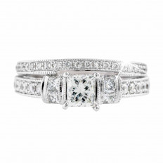 Vintage Neil Lane 1.36 CTW Diamond Wedding Set