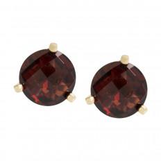 New 2.16 CTW Garnet Stud Earrings