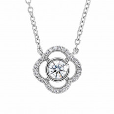 New Hearts On Fire® 0.26 CTW Diamond Signature Petal Bezel Necklace