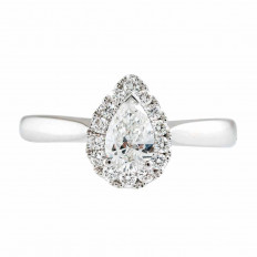 New 0.64 CTW Diamond Halo Engagement Ring