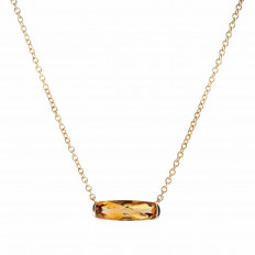 New 1.40 CT Citrine Necklace