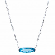 New 1.80 CT Blue Topaz Necklace