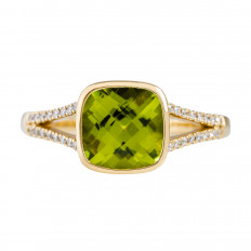 New 2.19 CTW Peridot & Diamond Ring
