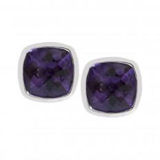 New 0.98 CTW Amethyst Stud Earrings