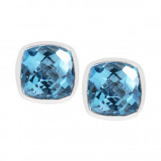 New 1.30 CTW Blue Topaz Stud Earrings