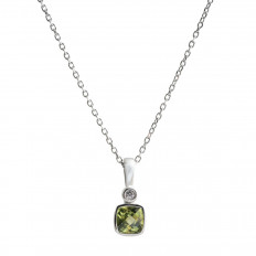 New 0.63 CTW Peridot & Diamond Pendant
