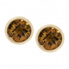 New 0.86 CTW Citrine Stud Earrings