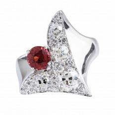 Vintage 1.69 CTW Diamond & Garnet Ring