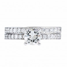 Vintage 1.17 CTW Diamond Wedding Set