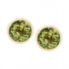 New 1.12 CTW Peridot Stud Earrings