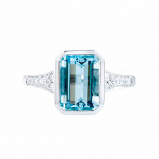 New 2.56 CTW Aquamarine & Diamond Ring
