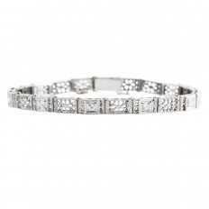 Vintage 0.25 CTW Diamond Link Bracelet