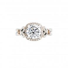 Vintage Kirk Kara 0.63 CTW Diamond Halo Engagement Ring Setting