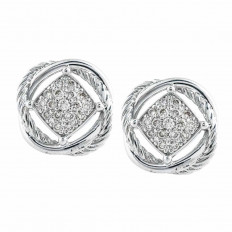 Vintage David Yurman 0.31 CTW Diamond Infinity Earrings