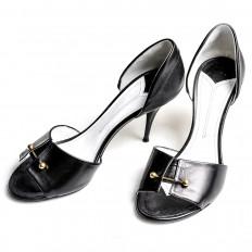 Vintage Chanel Peep Toe Heels