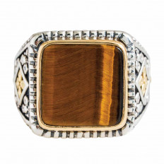 Vintage Konstantino Tiger Eye Ring