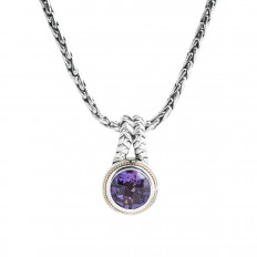 Vintage Effy 3.60 CT Amethyst Necklace