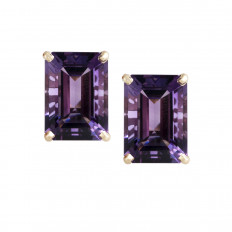 Vintage 12.00 CTW Amethyst Earrings