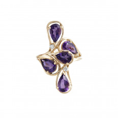 Vintage 3.31 CTW Amethyst & Diamond Ring