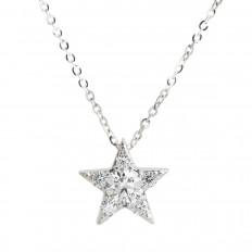 Vintage Hearts On Fire® 0.36 CTW Diamond Illa Cluster Star Pendant