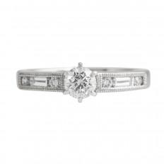 Vintage 0.91 CTW Diamond Engagement Ring