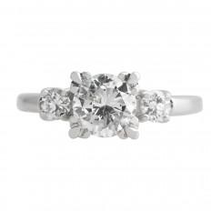 Vintage 1.34 CTW Diamond Engagement Ring