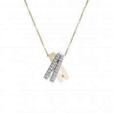 Vintage 0.50 CTW Diamond Cross Over Pendant