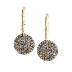 New Madison L 0.31 CTW Diamond Disc Earrings