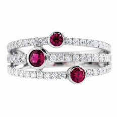New Madison L 0.93 CTW Ruby & Diamond Band