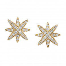 New 0.27 CTW Diamond Star Stud Earrings
