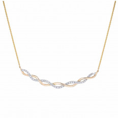 New Madison L 0.16 CTW Diamond Twist Necklace
