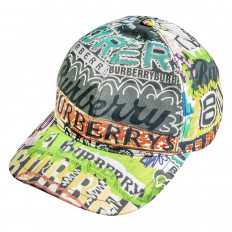 Vintage Burberry Graffiti Snapback Hat