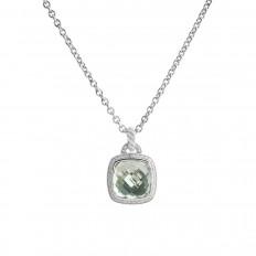 Vintage David Yurman 0.32 CTW Diamond & Prasiolite Albion Pendant