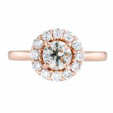 Vintage 0.87 CTW Diamond Halo Engagement RIng