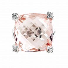 Vintage David Yurman 0.10 CTW Morganite & Diamond Ring