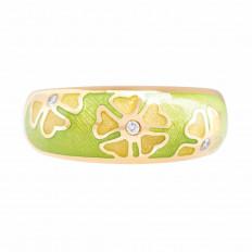 Vintage Fabergé 0.045 CTW Diamond Floral Ring