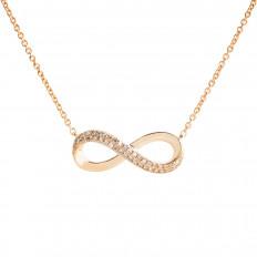 Vintage Effy 0.12 CTW Diamond Infinity Pendant