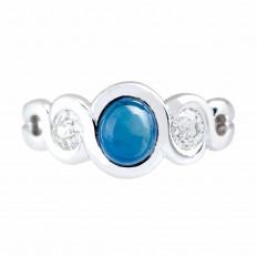 Vintage 2.33 CTW Blue Sapphire & Diamond Ring