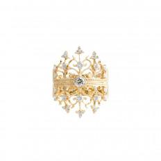 Vintage Beverley K 1.00 CTW Diamond Crown Ring