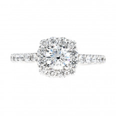 New 1.42 CTW Diamond Halo Engagement Ring