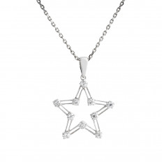 Vintage 0.48 CTW Diamond Star Pendant