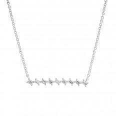 New Venetti 0.19 CTW Diamond Bar Necklace