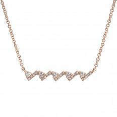 New Venetti 0.15 CTW Diamond Check Mark Bar Necklace