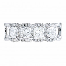 New 1.55 CTW Diamond Halo Ring