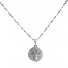 New Denny Wong 0.05 CTW White Sapphire Sand Dollar Necklace